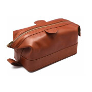 Косметичка на молнии Gentleman's Wash Bag Tan TRUEFITT and HILL