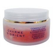 Гоммаж с розовыми кристаллами и скорлупой ореха арганы AORES Body scrub with rose crystals and Argan shell Charme d'Orient